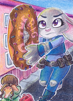 ACEO #45 - The Big Donut by Amalika