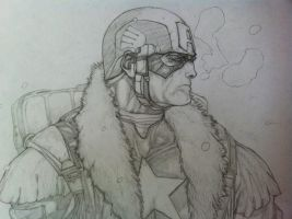 captain america close up by franco-american