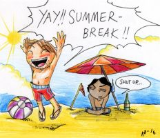 Jeff and Ted - Summerbreak... by Seal-of-Metatron