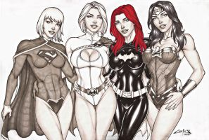 DC GIRLS, ON E-BAY AUCTION NOW !!! by carlosbragaART80