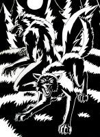 The difference between a werewolf and an animagus by Erry