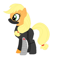 MLP- Apple Bucky- The Winter Wrap-Up Soldier by Dinalfos5