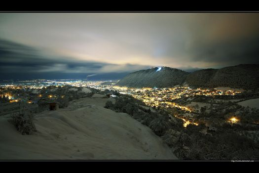 First snow in Brasov City Wide by vxside