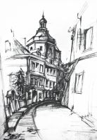Town Hall, pencil drawing 50x70 by SoniaSh
