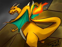 A quick Charizard by Jamie-B