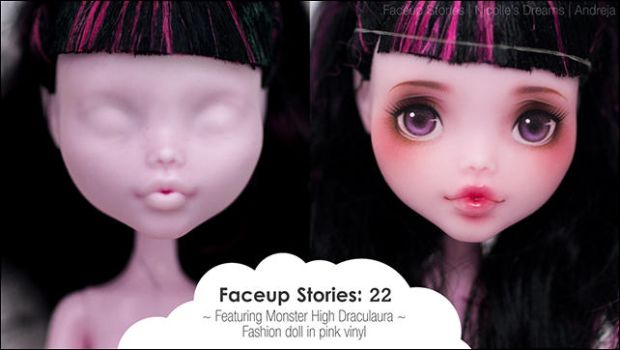 VIDEO Faceup Stories 22 - Monster High Draculaura by AndrejA