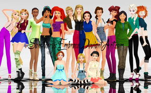 {MMD Download} Modern Disney Girls [BIG Pack] by SanctuarysEmbrace