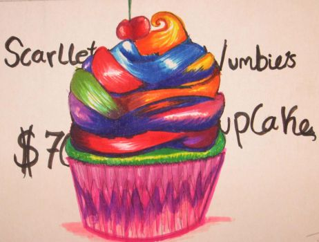 Cupcake - Marker Art pt. 3 by WonderGirlTheGreat