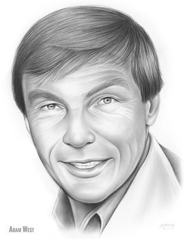 RIP Adam West Pencil Sketch of the Day 06-11-17 by gregchapin