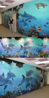 Dolphin Mural by Damalia