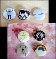 random badges and luck badges by untitled512