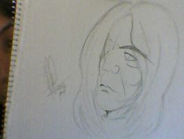 Ugly Snape drawing by MarySeverus