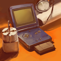 my gameboy advance by milkybee