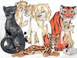 Big Cats of Ouran by KittyCowLexa
