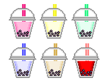 Pixel Art - Bubble Tea by tennoarashi