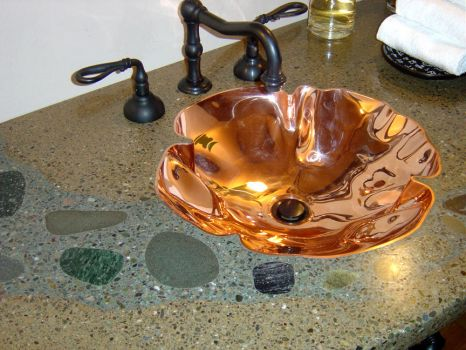 Copper Crenelated Sink by ou8nrtist2