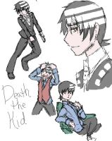Death the Kid Bamboo Sketches by NyxZeta