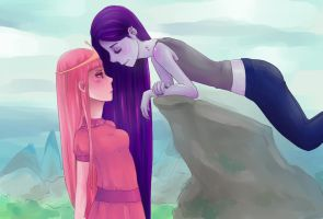 adventure time bubblegum and marceline by tiuc0