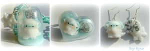 Kawaii Fluffy Yeti parure by Bojo-Bijoux