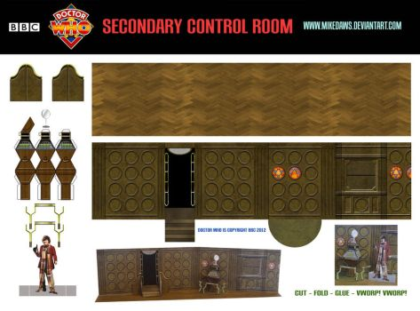 Doctor Who - Secondary Control Room by mikedaws