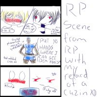 Scene from Shiki and Rin RP... by AgateophobicDetraque