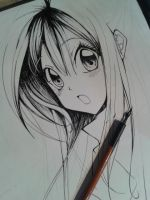 Copy Training !!! sketch 3 -Arina Tenemura - Haine by Yuuki-Tachi