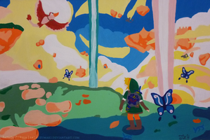Pintura: The Legend of Zelda - Skyward Sword by jazyuzumaki