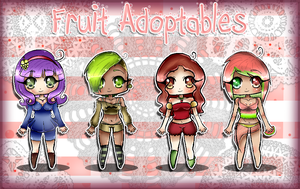 Fruit Adoptables 1 by xDeliciousDemise