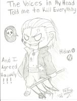 hidan voices in my head XP by animeartist14