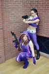 Kinzie and Asha - Saints Row IV - Super Homies by zhobot