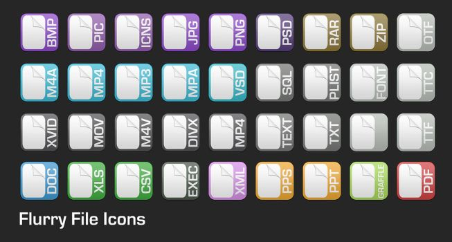 Flurry Application Icons by OriginalSource