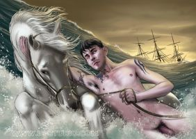 True Beefcakes 17 - Shipwreck (nude) by soyivang