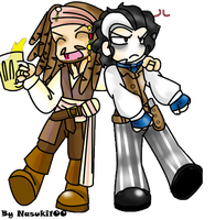 Jack Sparrow and Sweeney Todd by Nasuki100