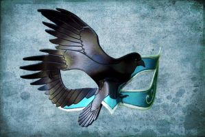 Leather Raven Mask by ContessaEsselia