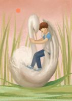The swan, my friend by Zippora