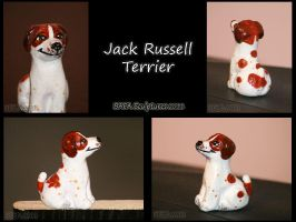 Jack Russell Sculpture by Bafa