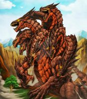 Ladon Dragon for Fenix TCG by Chaos-Draco