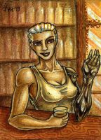 ACEO trade: Joe White by VentralHound