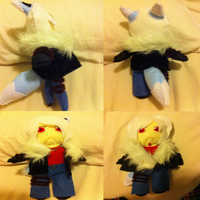 Final Product - Kage Plushie! :3 by Shadow-Rukario