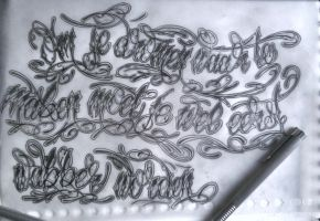 lettering by GeertY