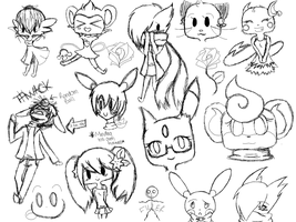 Pokemon-crossing Sketchdump by poketmon