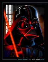 DARTH VADER PRINT by kgreene