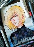 YURI PLISETSKY with watercolor and copic by deicus4ever