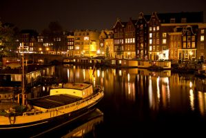 Amsterdam at Night by DevastationStudios