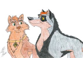 Kitara the wolfhound - Jenner's love. 2 by MortenEng21