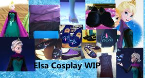 Elsa coronation cosplay work in progress by MishaCosplay