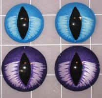 purple and blue Slit eyes by Monoyasha