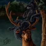 Padfoot and Prongs Close-up by mcgray