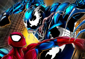 Spiderman VS Venom by scarypet