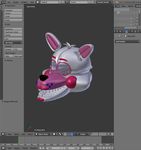 Funtime Foxy Model WIP by TheEndCrafter